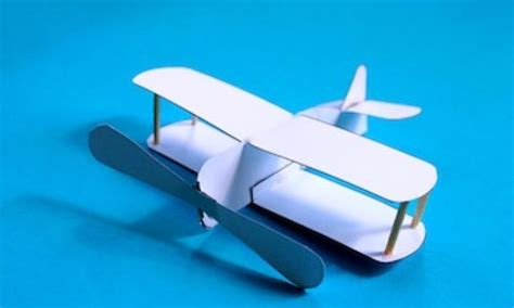 How To Make A Model Airplane Out Of Paper - make a cut and fold biplane kidspot