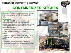 Containerized Kitchen by Forward Support Company Ppt