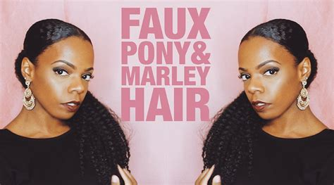 where to buy marley hair faux pony with marley hair natural hair youtube