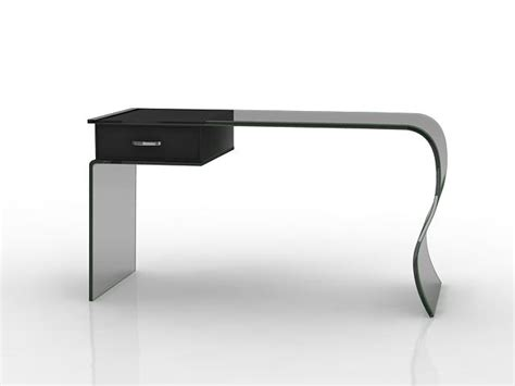 black glass office desk 3d model 3dsmax files free