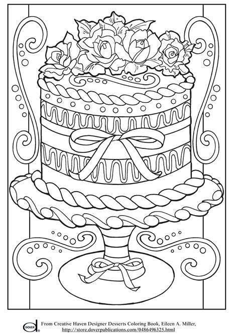 coloring page free free printable adult coloring pages wedding cake of to