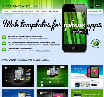 templates for deals website unlimited iphone and ipad app website templates for life