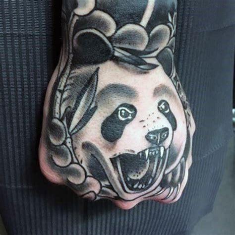 panda japanese tattoo 100 panda bear tattoo designs for men manly ink ideas