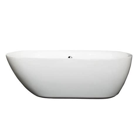 65 inch bathtub wyndham collection 65 inch freestanding bathtub in white