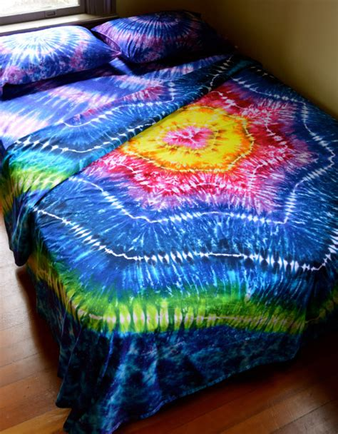 tie dye bed set hand dyed sheet set queen size tie dye bedding