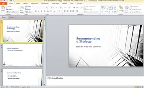 Free Business Strategy Template For Powerpoint 2013 Powerpoint Microsoft Templates