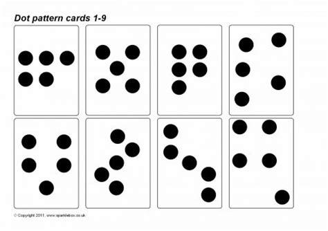 dot pattern number cards dot pattern cards 1 9 sb4825 sparklebox