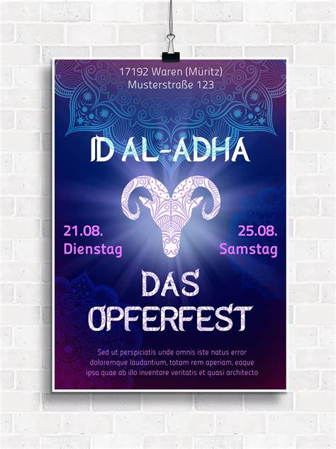 islam poster flyer vorlagen fuer muslimische feste