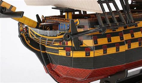 3d Puzzle Robotime Victory Ship Ba501 cubic 3d three dimensional jigsaw puzzle children royal victory ship paper model t4019h