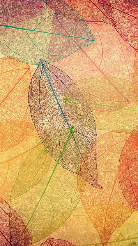 pattern art wallpaper rainbow color leaf art fall nature pattern iphone 6