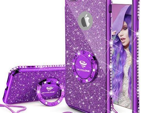 purple iphone   case glitter cute phone case