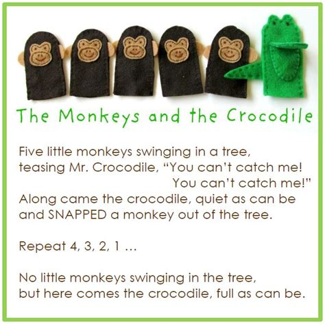 5 little monkeys swinging in a tree lyrics best 25 crocodile craft ideas on pinterest alligator