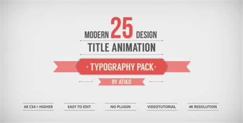 Design Html Title | 25 design titles animation typography pack by atiko