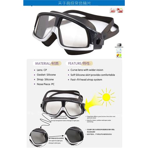 Kacamata Renang Big Frame Anti Fog Uv Protection Rh9110 Black kacamata renang polarizing anti fog uv protection gog 300 silver black jakartanotebook