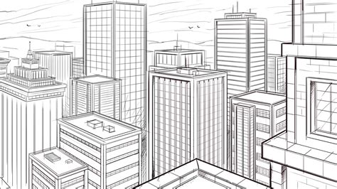 Drawing 2 Point Perspective by Ram Studios Comics How To Draw A City In A 2 Point