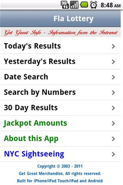 Florida Mega Money Winning Numbers List - florida lottery results android apps on google play