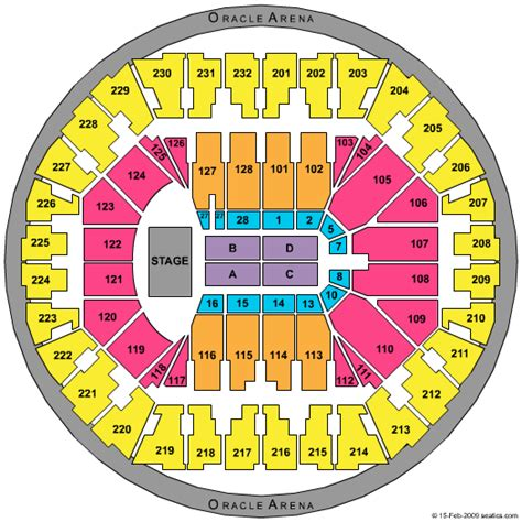 oakland arena seating tickets oracle arena