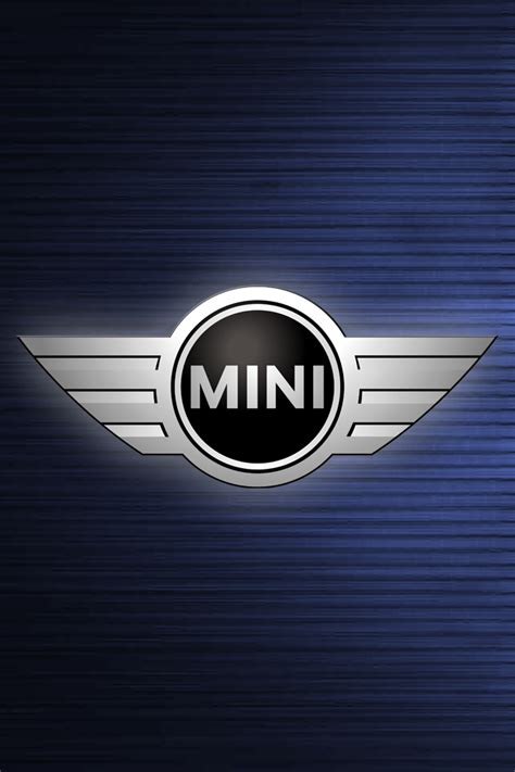 mini cooper logo mini cooper logo blue wallpaper for iphone 4 and 4s hd