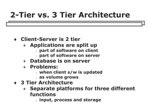 Mba From Middle Tier Vs Top Tier by Ppt Client Server Architecture Powerpoint Presentation