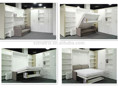 wall folding bed fold away bed transformable bed wall bed with study table