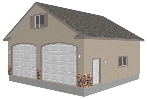 best garage plans g433 30 x 30 detached garage with bonus truss sds plans
