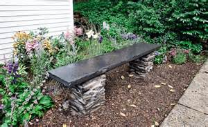 Backyard Shed Foundation by How To Build A Stone Garden Bench