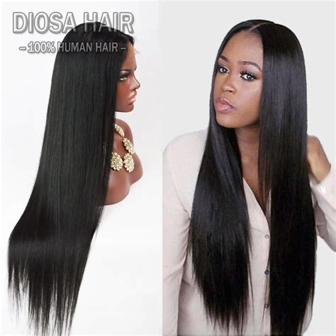 7a lace front human hair wigs for black glueless