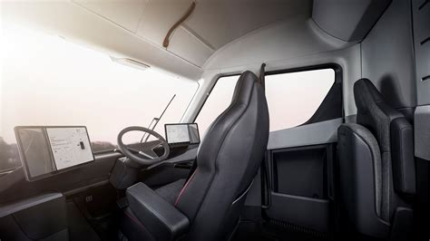 tesla inside first tesla semi interior video shows the life of a 2020