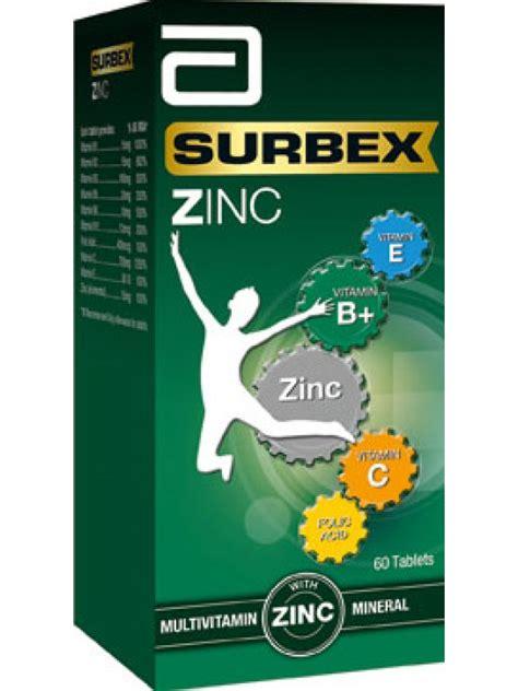 abbott surbex zinc multivitamin with zinc 60 tablets