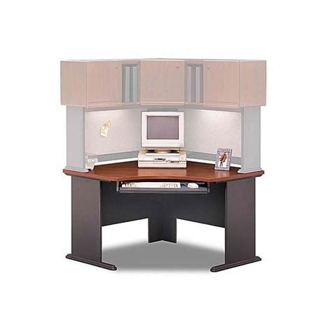 Cherry Corner Desk With Hutch Bush Business Series A Hansen Cherry Corner Desk With Hutch Bsa019 944
