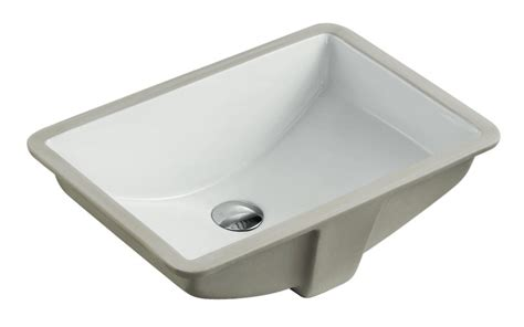 21 Inch Bathroom Vanity Sink by Rectangular White Biscuit Porcelain Ceramic Vanity