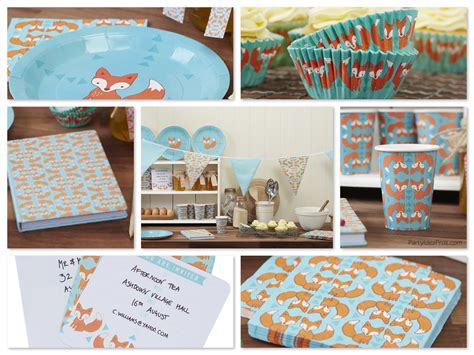 Baby Shower Themes Kits by Fox Theme Planning Ideas Decor Supplies