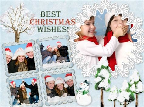 christmas collage card add  templates