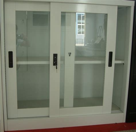 cabinet sliding glass doors china used steel storage filing cabinet with sliding glass