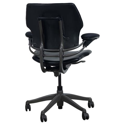 Freedom Leather by Humanscale Freedom Leather Used Task Chair Black