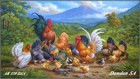 wallpaper alam dan hewan lukisan ayam kate yang oke album koleksi lukisan dandan sa