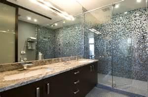 glass tile for bathrooms ideas chen custom glass tile gradient shower surround