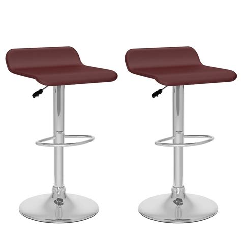 Home Depot Bar Stools Canada by Corliving B 832 Vpd Curved Adjustable Bar Stool In Brown
