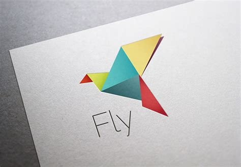 Folded Paper Birds - 60 amazing psd ai eps business logo templates web