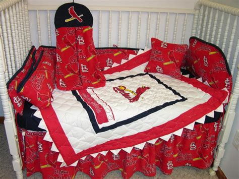 st louis cardinals bedroom crib bedding set made w st louis cardinals fabric bedding