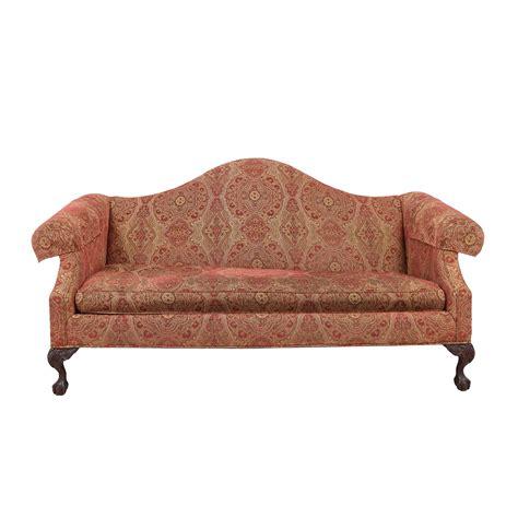 ethan allen ethan allen paisley camelback sofa