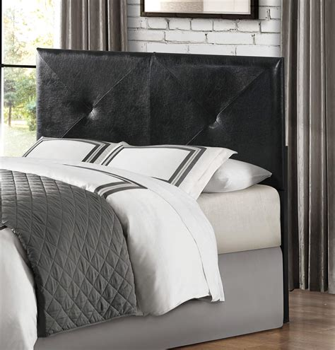 fresh calais upholstered headboard black 21316