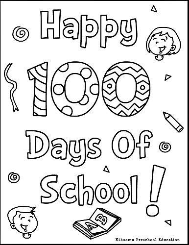 coloring pages 100 day countdown coloring pages