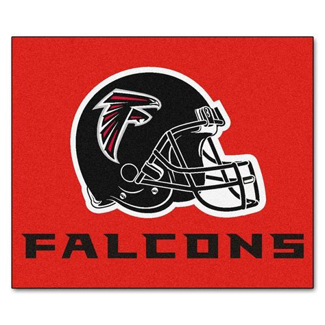 atlanta falcons rug fanmats atlanta falcons 5 ft x 6 ft tailgater rug 6127 the home depot