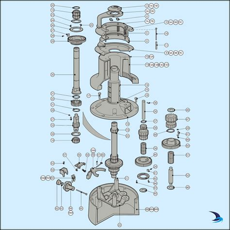 lewmar windlass parts diagram lewmar self tailing winch spares size 66st 3 speed