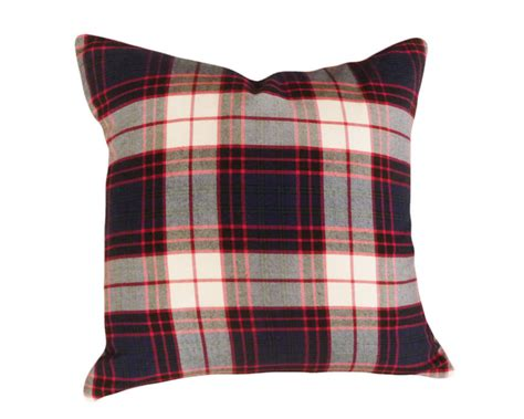 Tartan Throw Pillows tartan plaid throw pillows blue green white by