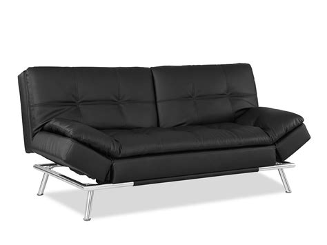 futon convertible matrix convertible sofa bed black by lifestyle solutions