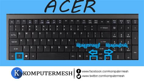 Tombol Keyboard Notebook Asus cara mengatur kecerahan layar laptop melalui windows 7 shortcut