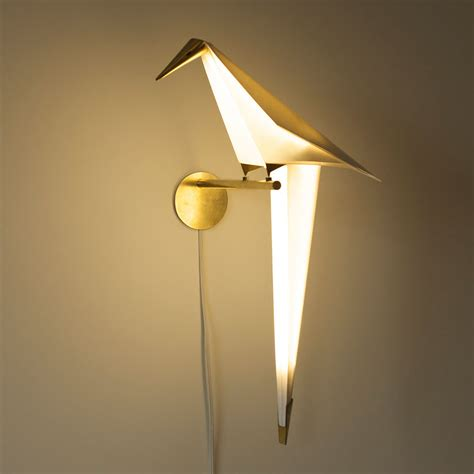 light designs origami bird lights by umut yamac colossal