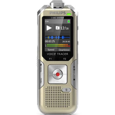 Philips Dvt8000 4gb Expandable Digital Voice Recorder With